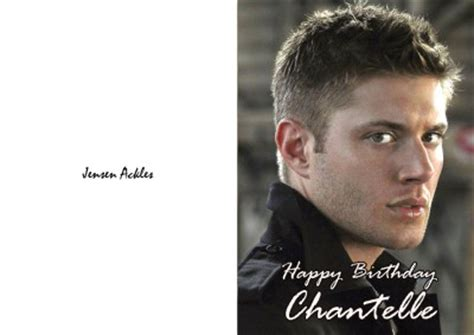 Ackles Birthday Card Personalised Jensen Ackles Birthday Card Ebay