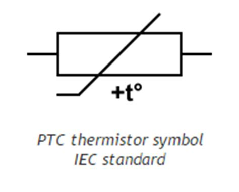 what is a ptc thermistor thermistor symbol