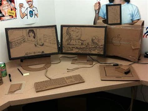 Office Desk Pranks F Ing Epic Cardboard Cubicle Prank Proves These Guys Don T Enough To Do Technabob