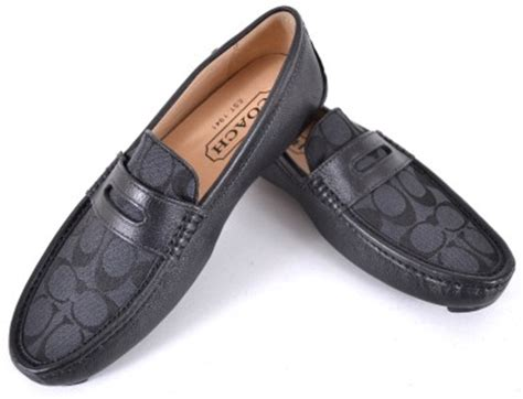 mens coach loafers new coach s q907 signature c black graphite neal