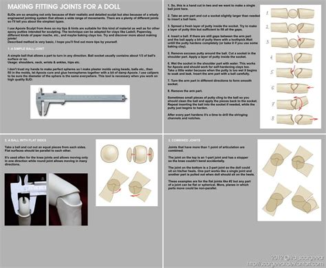 types of jointed dolls make fitting joints for a doll tutorial by scargeear on