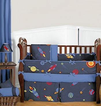 Space Themed Crib Bedding Outer Space Bedding For A Baby Rocket Ship Nursery Theme