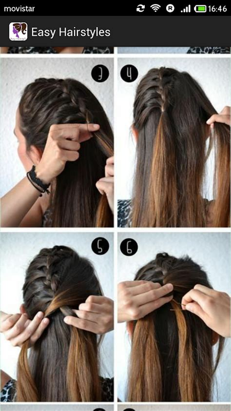 simple and easy hairstyles for party step by step easy hairstyles step by step android apps on google play