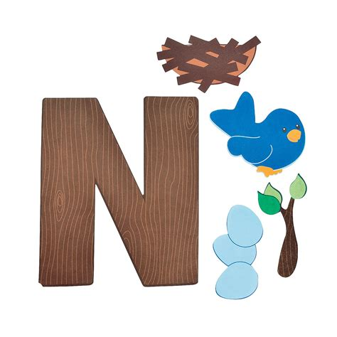 Paper N Craft - n is for nests letter n craft kit trading