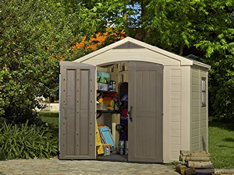 Plastic Garden Sheds 6 X 8 by Keter Factor Large 8 X 6 Ft Resin Outdoor Backyard Garden Storage Shed Lawn Patio In The