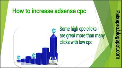 adsense cpc how to increase adsense cpc to earn maximum money