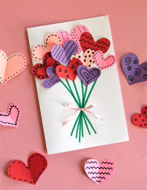 Paper To Make Cards - bouquet of hearts card for s day cards