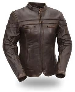 leather jacket brown leather crossover scooter jacket zipout liner