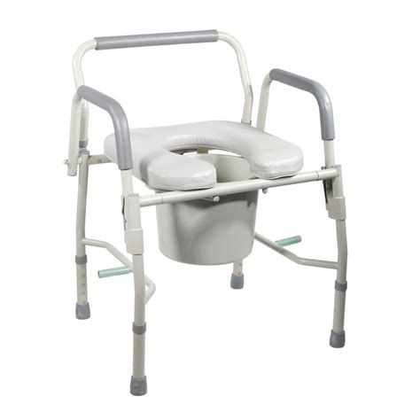 Used Commode Chair - drive steel drop arm bedside commode
