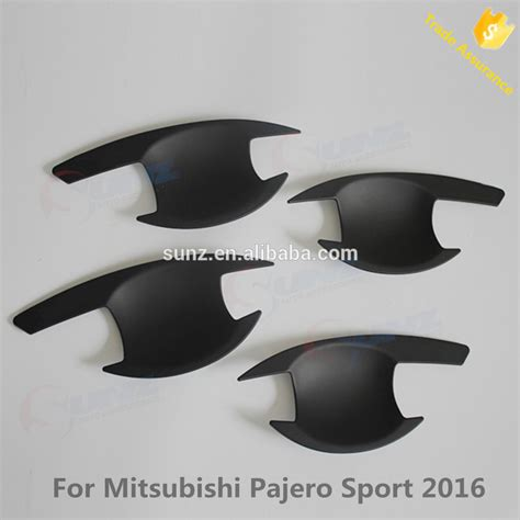 Cover Handle All New Pajero 2016 Murah new 2016 pajero sport 4x4 suv abs black plastic door handle cover inser bowl for mitsubishi