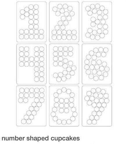 number 2 cake template numbers cupcakes template one two three four five