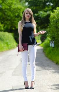 What Do You Wear To Bed Paige Jane White Skinny Jeans Black Peplum Amp Louboutins