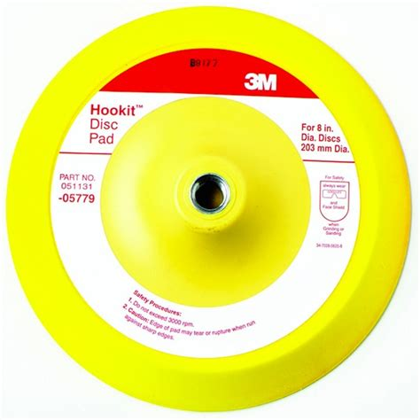what color are you m i a pads 3m 05779 hookit hook loop disc pad 8 inch free