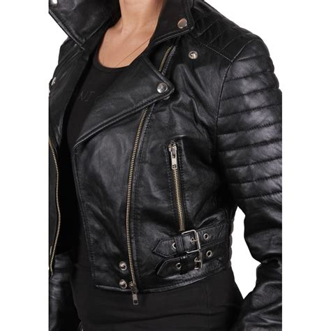 ladies leather motorcycle women black leather biker jacket sixty