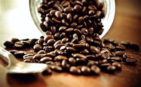 coffee beans  spoon wallpapers hd desktop  mobile