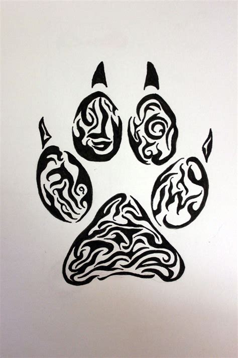 tribal footprint tattoos cool animal designs www pixshark images