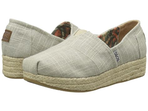 bobs wedge shoes bobs from skechers metallic linen wedge espadrille at