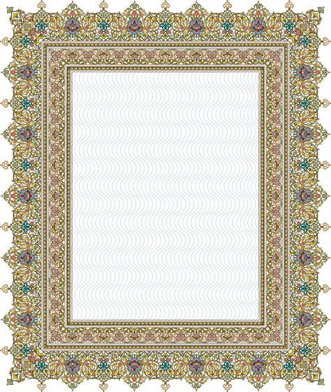 islamic pattern border 84 floral pattern khatai border patterns pinterest