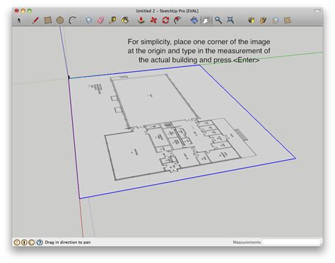 how to create a floor plan in sketchup how to build a building starting from a floor plan in