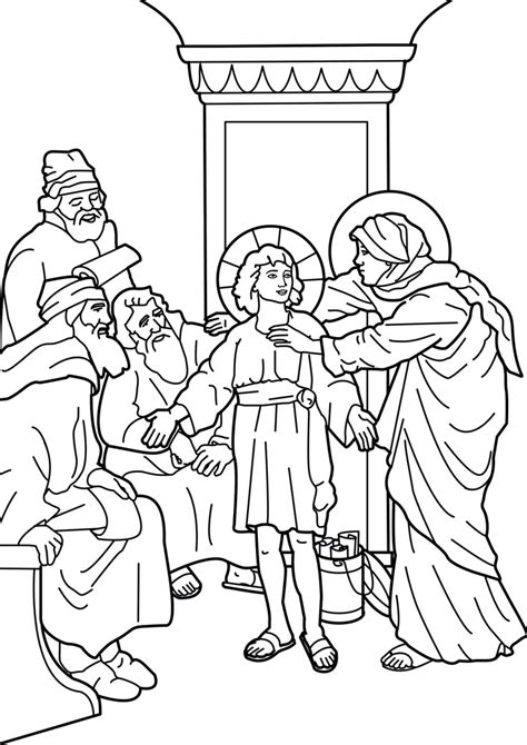 free coloring page jesus in the temple the boy jesus in the temple catholic coloring page