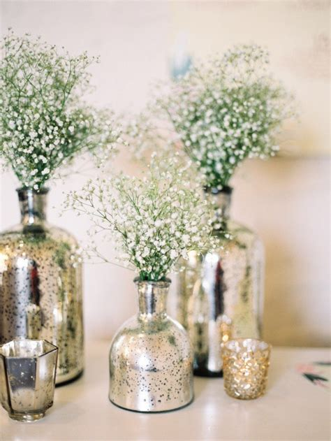 Glass Vase Centerpiece by Diy Mercury Glass Centerpiece Vases For Your Rustic Chic Wedding Wedding By Wedpics