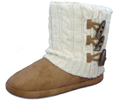 womens slipper boots dunlop slippers boots winter faux suede fur womens