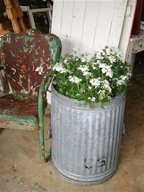Trash Can Planter by Trash Can Planter Someday I Will Find The Time