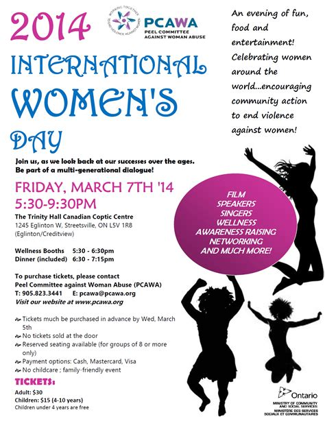 when is s day in 2014 pcawa presents 2014 international s day celebration