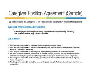 position agreement template caregiver position agreement landscape jpg