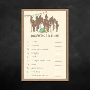 printable kids birthday game sheet scavenger hunt game sheet
