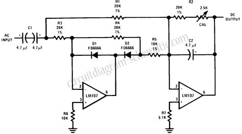 rectifier circuit using op gt circuits gt wave rectifier circuit with averaging filter l23206 next gr