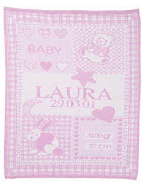 Baby Decke Mit Namen babydecke mit namen und geburtsdatum ikast etikett