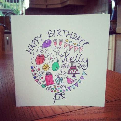 Birthday Card Doodle Gift Wrap Tags Decoration