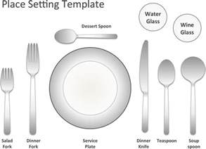 table setting template the place setting template can help you make a