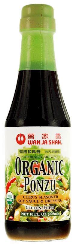 Wan Ja Shan Ponzu Sauce Saus Bumbu Ponzu Pot wan ja shan organic gluten free ponzu sauce citrus seasoned soy sauce 10 oz