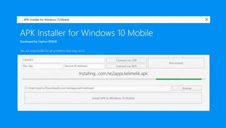 apk installer for windows 10 mobile cihaza android apk y 252 klemek celal yurtcu