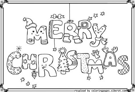 Merry Christmas Coloring Pages Free Coloring Home Merry Coloring Pages Pdf