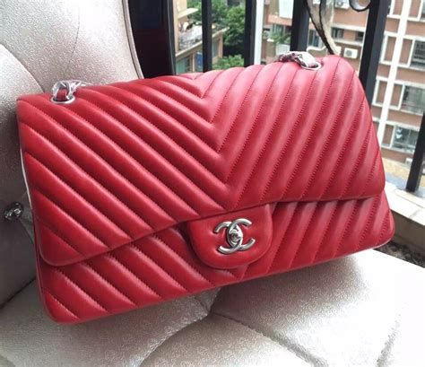 Chanel Bb 1113 1 chanel 1113 lambskin chevron quilting classic jumbo flap bag in with shw 2015 chanel
