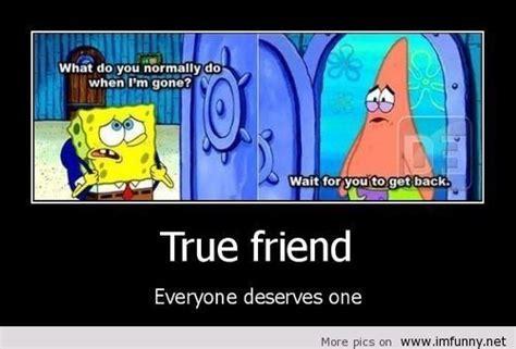 true friend spongebob patrick spongebob funny pictures