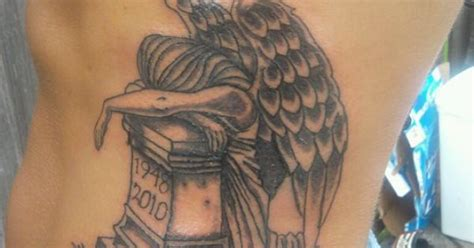 this is a tattoo called angel of grief this has my dad s this is a tattoo called angel of grief this has my dad s