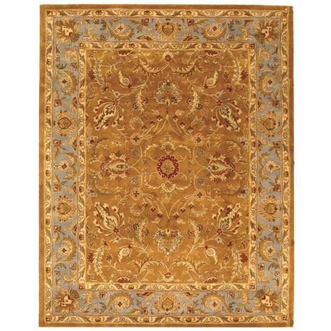 11 x 16 area rugs safavieh heritage brown blue 11 ft x 16 ft area rug hg812a 1116 the home depot