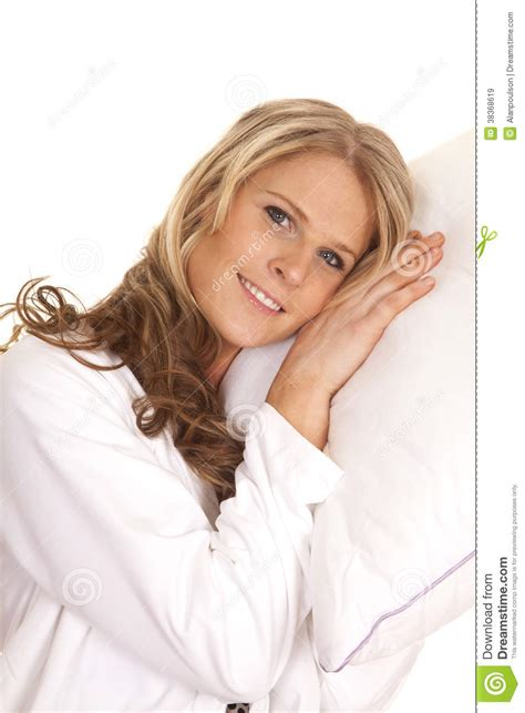 Who Sang Lay Your Upon Pillow by White Robe Lay On Pillow Smile Royalty Free Stock