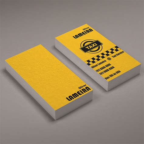 Tarjetas De Presentaciones Personales Efectivas 15 dise 241 os de tarjetas personales para taxistas
