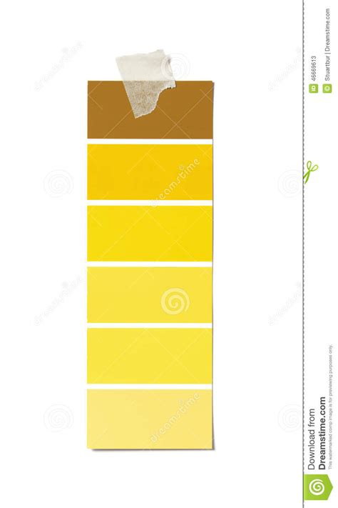 yellow paint swatch stock photo image 46669613