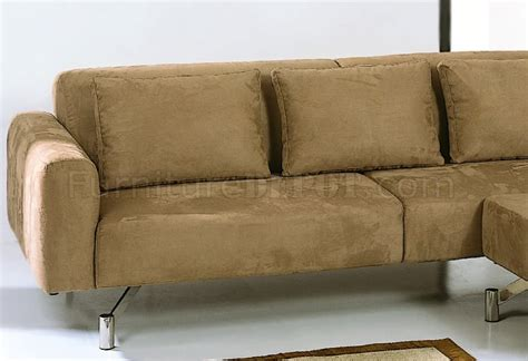 contemporary microfiber sectional sofa saddle brown microfiber contemporary sectional sofa