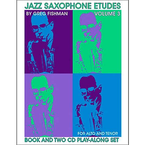 volume 3 books jamey aebersold jazz saxophone etudes vol 3 book and cds