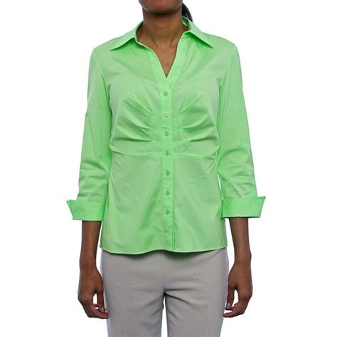 Laila Button lafayette 148 new york leila button green