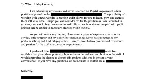 Cover Letter For Through Reference The One Surefire Way To Your Application Ignored