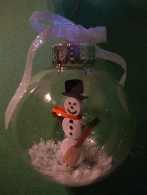 quilling snowman tutorial paper quilled snowman in glass ornament dawn s crafts