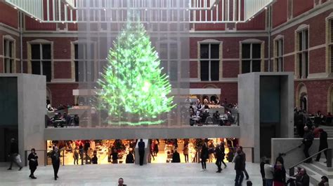 holographic christmas tree amsterdam youtube